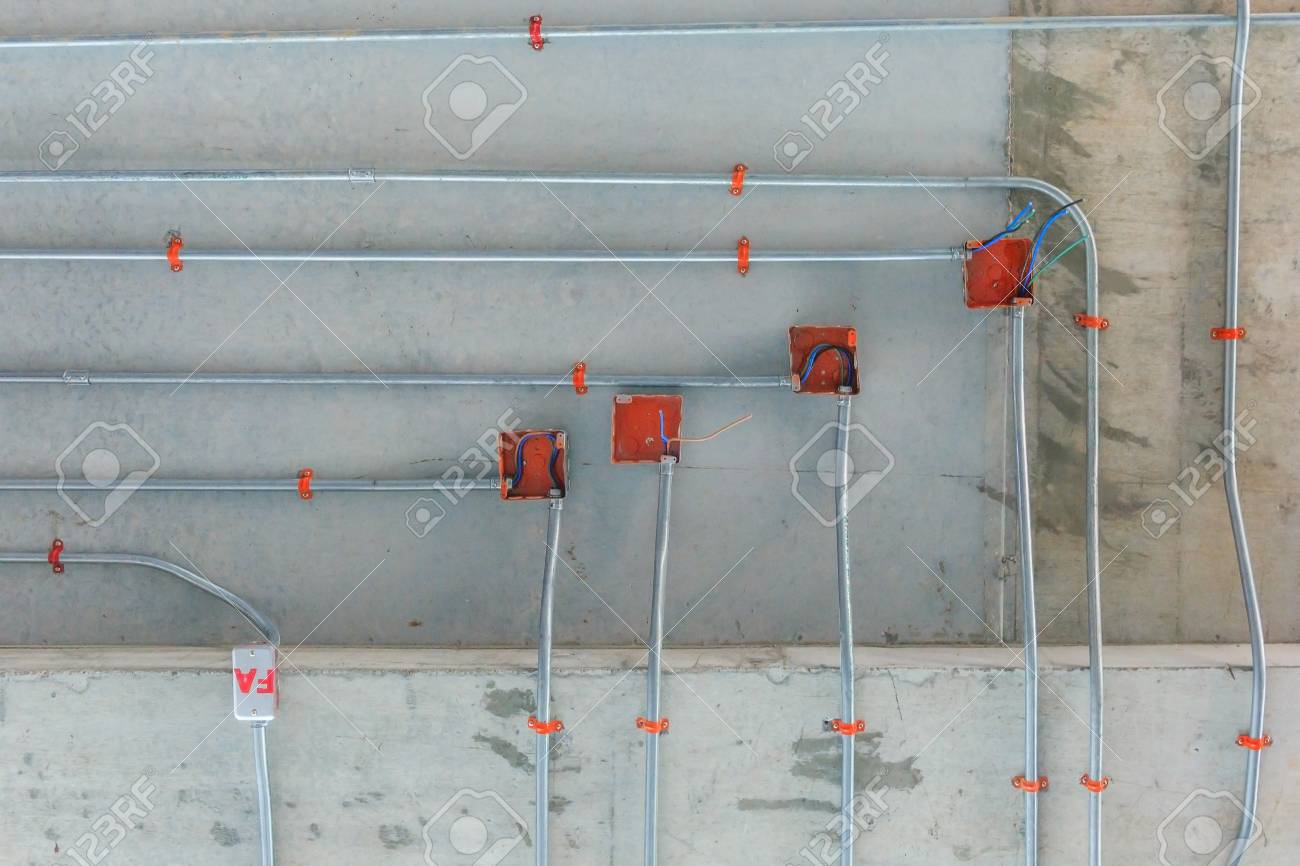 Steel Pipes For Electrical Distribution System Installation On ...