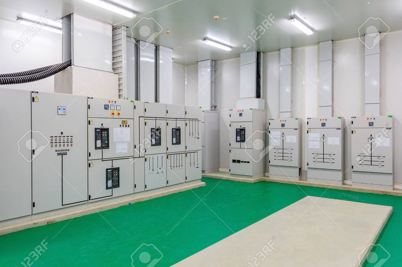 Electrical Energy Distribution Substation In A New Factory Plant ...