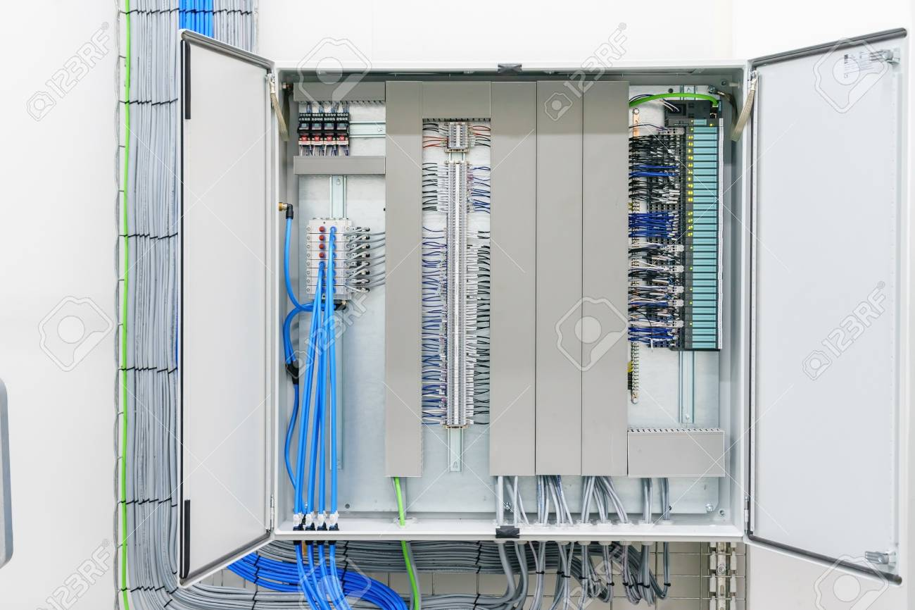 Electricity Distribution Box With Wires And Circuit Breakers Stock Fuse Circuits Photo 86040621