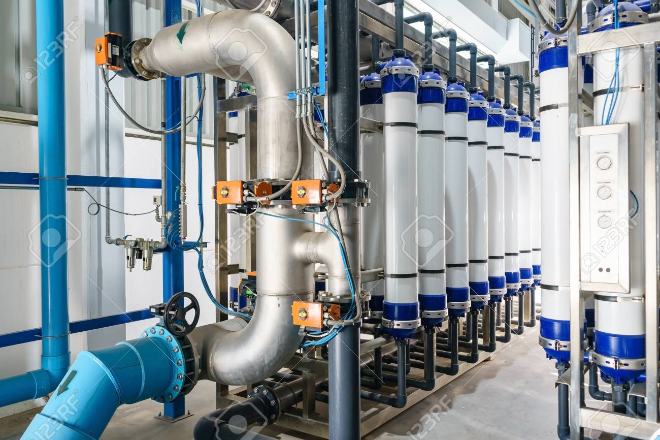 Modern water filtrating and purification system for industrial factory - 89269876