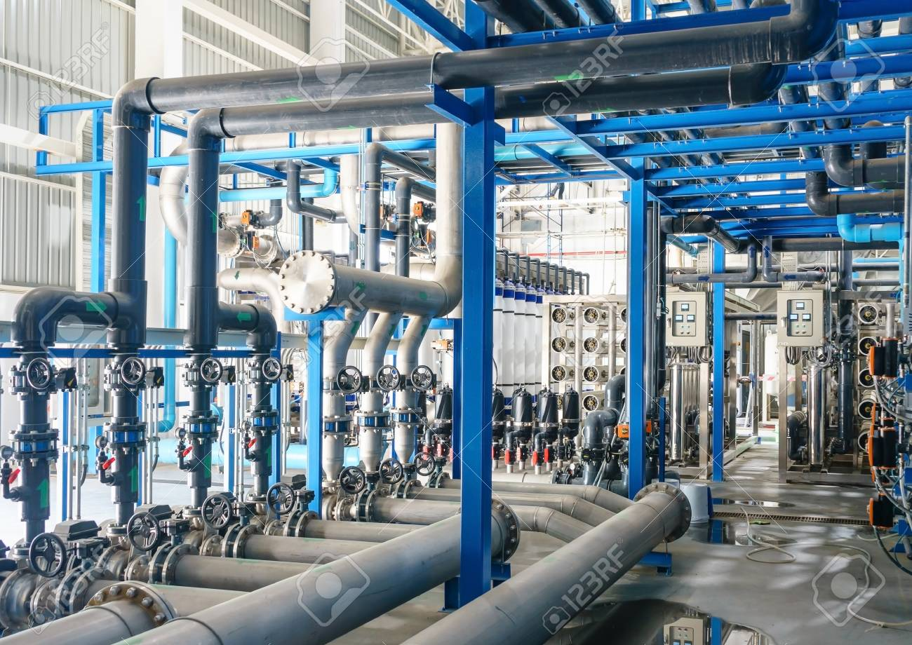 Large industrial water treatment and boiler room. reverse osmosis plant, RO - 89476030