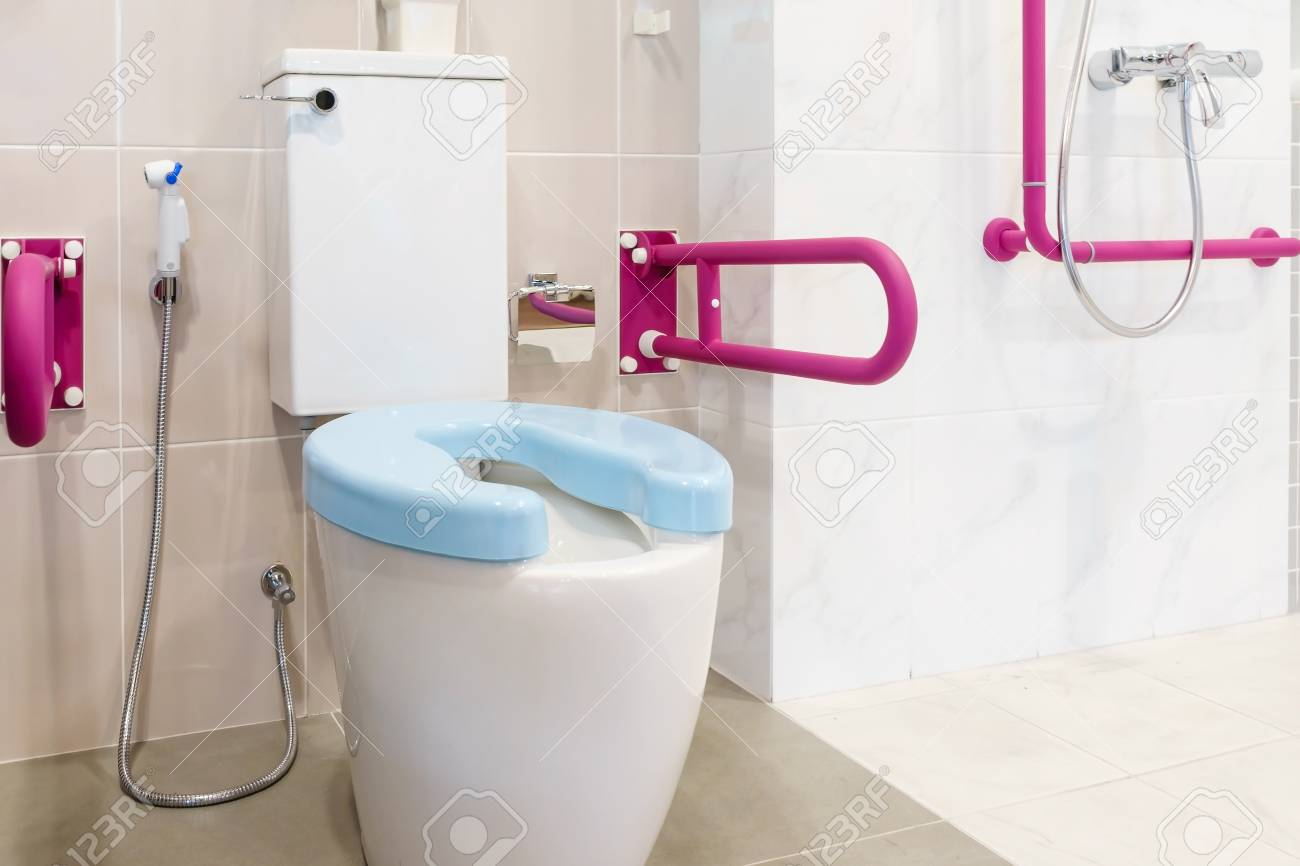 Toilet For The Elderly And DisabledIt Have Two Sided Handle
