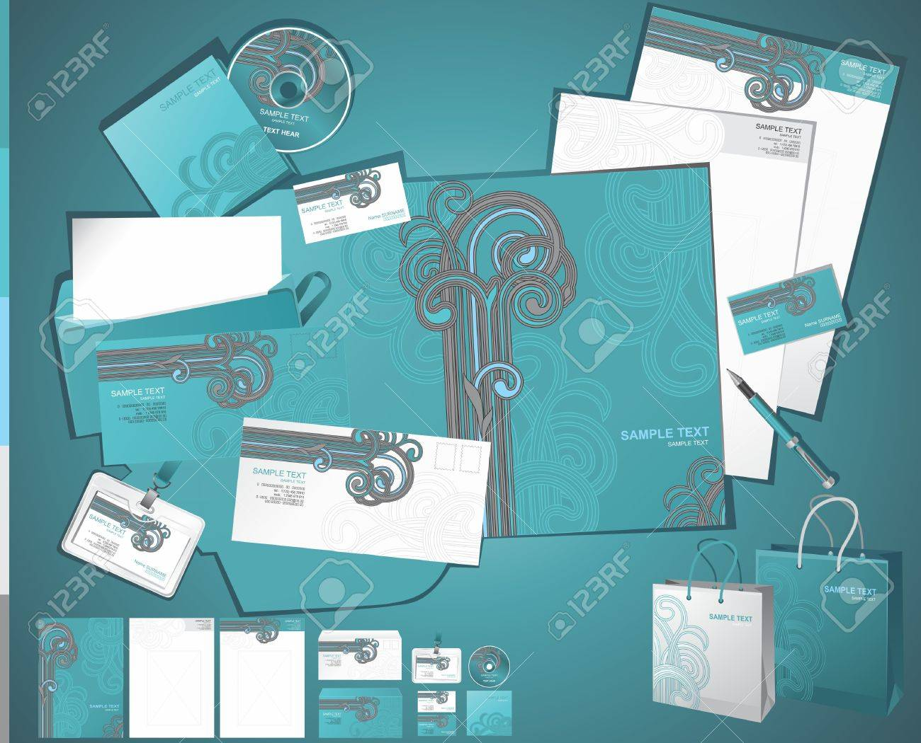 corporate business layout Stock Vector - 7797146