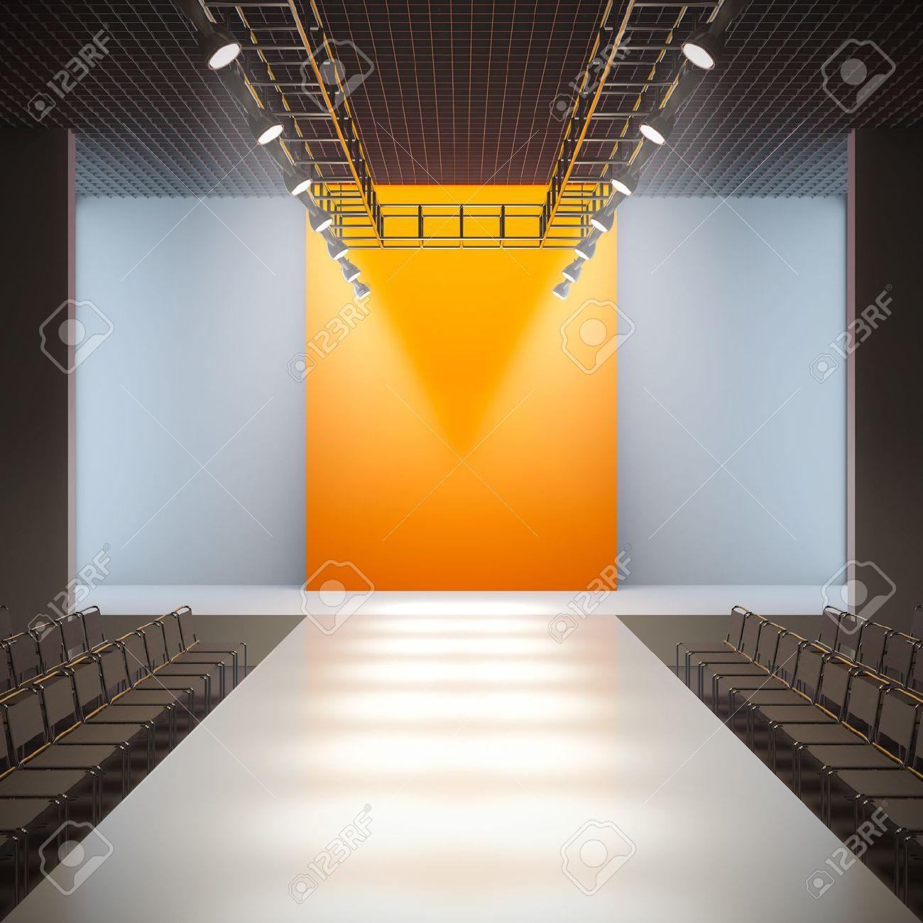 A 3D illustration of fashion empty runway. Stock Illustration - 11468041