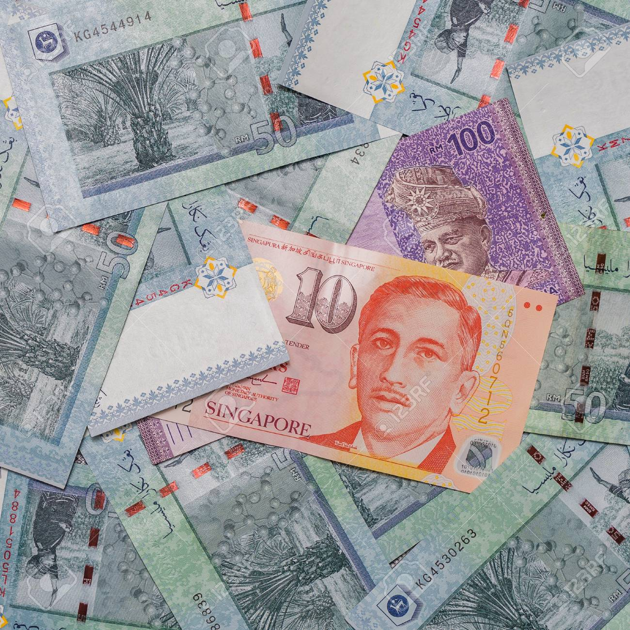 Singapore dollar on top of malaysian ringgit currency on pattern singapore dollar on top of malaysian ringgit currency on pattern background symbol rm currency code buycottarizona Image collections