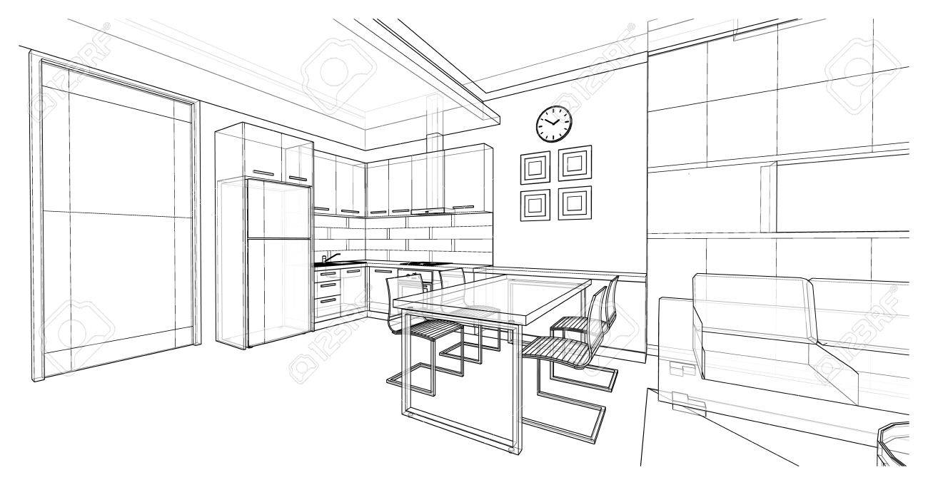 Interior Design Of Dining Area Apartment Planning Design 3d