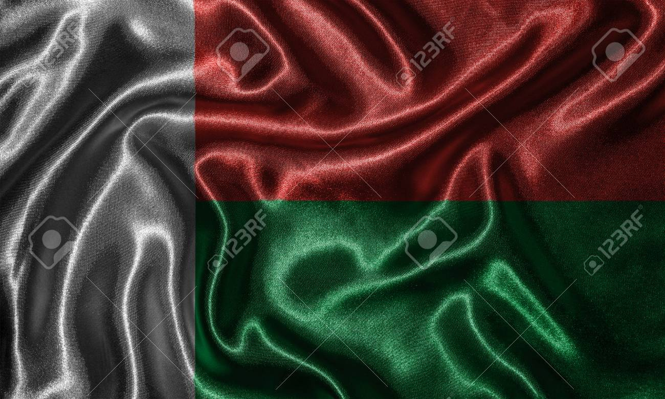 Madagascar Flag Fabric Flag Of Madagascar Country Background