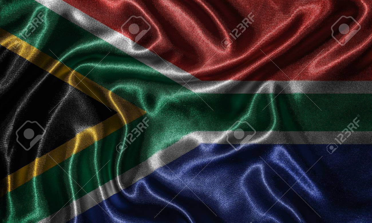 South Africa Flag Fabric Flag Of South Africa Country Background