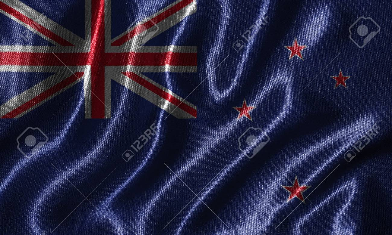 New Zealand Flag Fabric Flag Of New Zealand Country Background