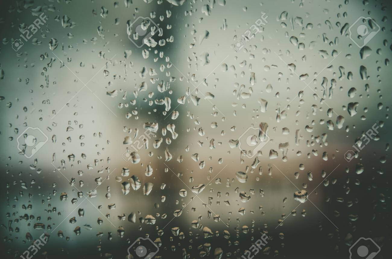 Wallpaper Of Rain Drops Or Water Drops On The Glass Vintage Background By Rainy Drop On Window Rainy Day With Raindrop On The Glass Texture Of