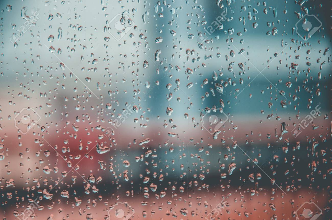 Wallpaper Of Rain Drops Or Water Drops On The Glass Vintage