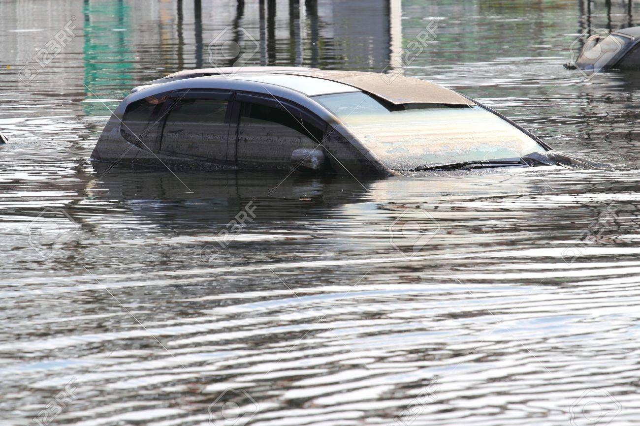 Flooded car Stock Photo - 11296255
