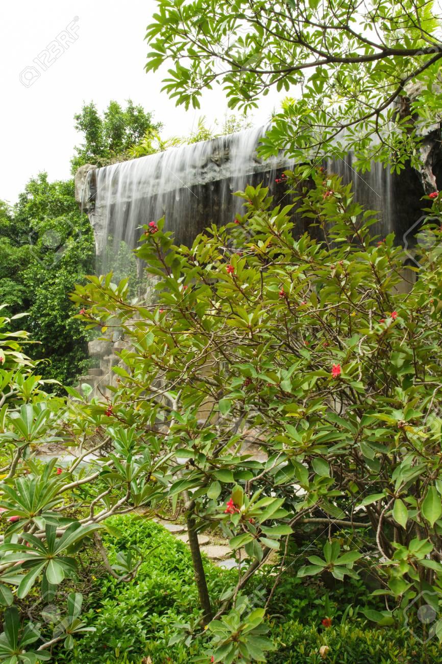 Waterfall in the garden Stock Photo - 21021232
