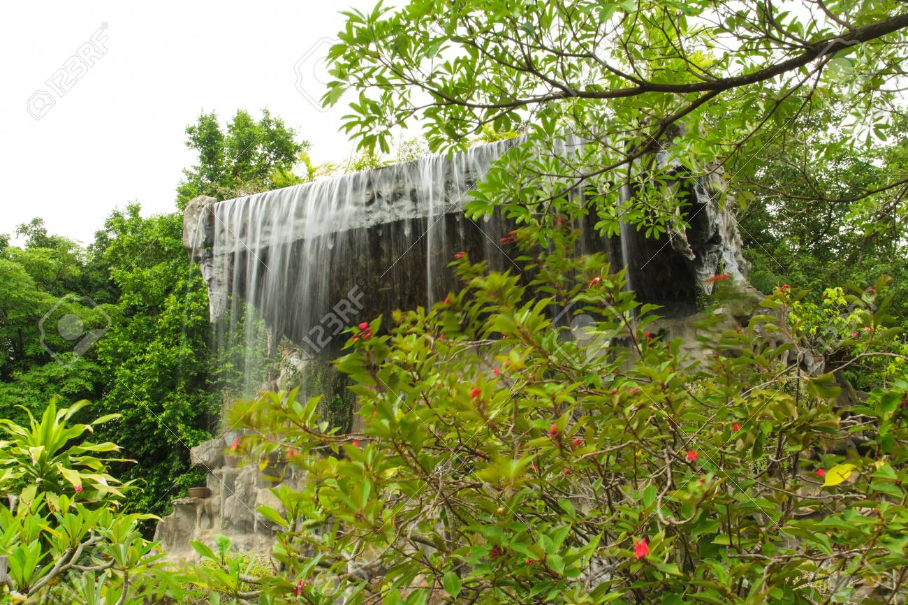Waterfall in the garden Stock Photo - 21021233