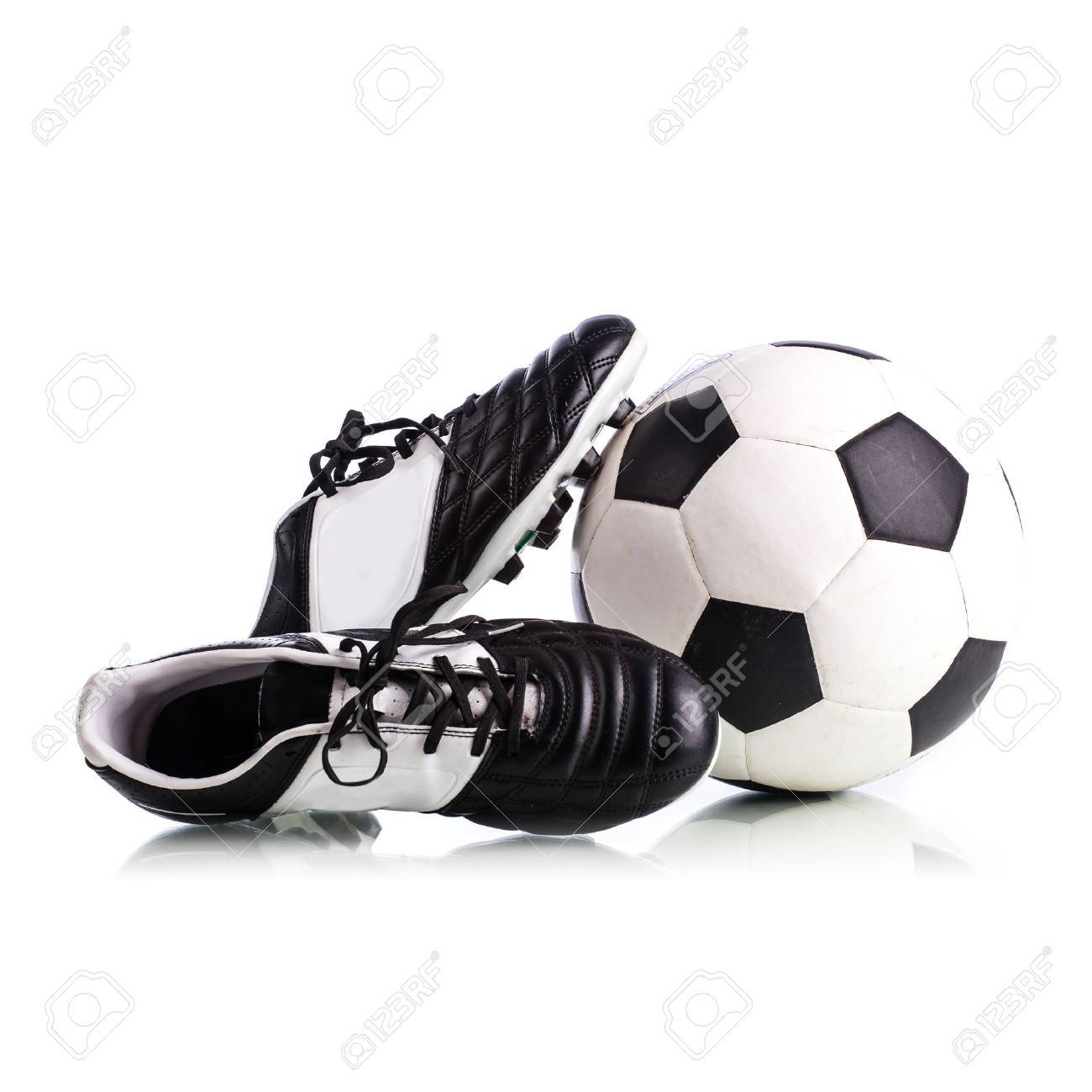 Soccer Shoes On White Background Stock