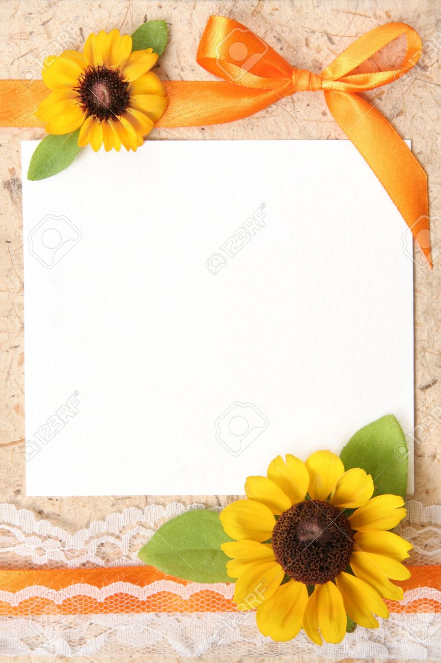 Blank Vintage Paper With Flowers Design Stock Photo Picture And