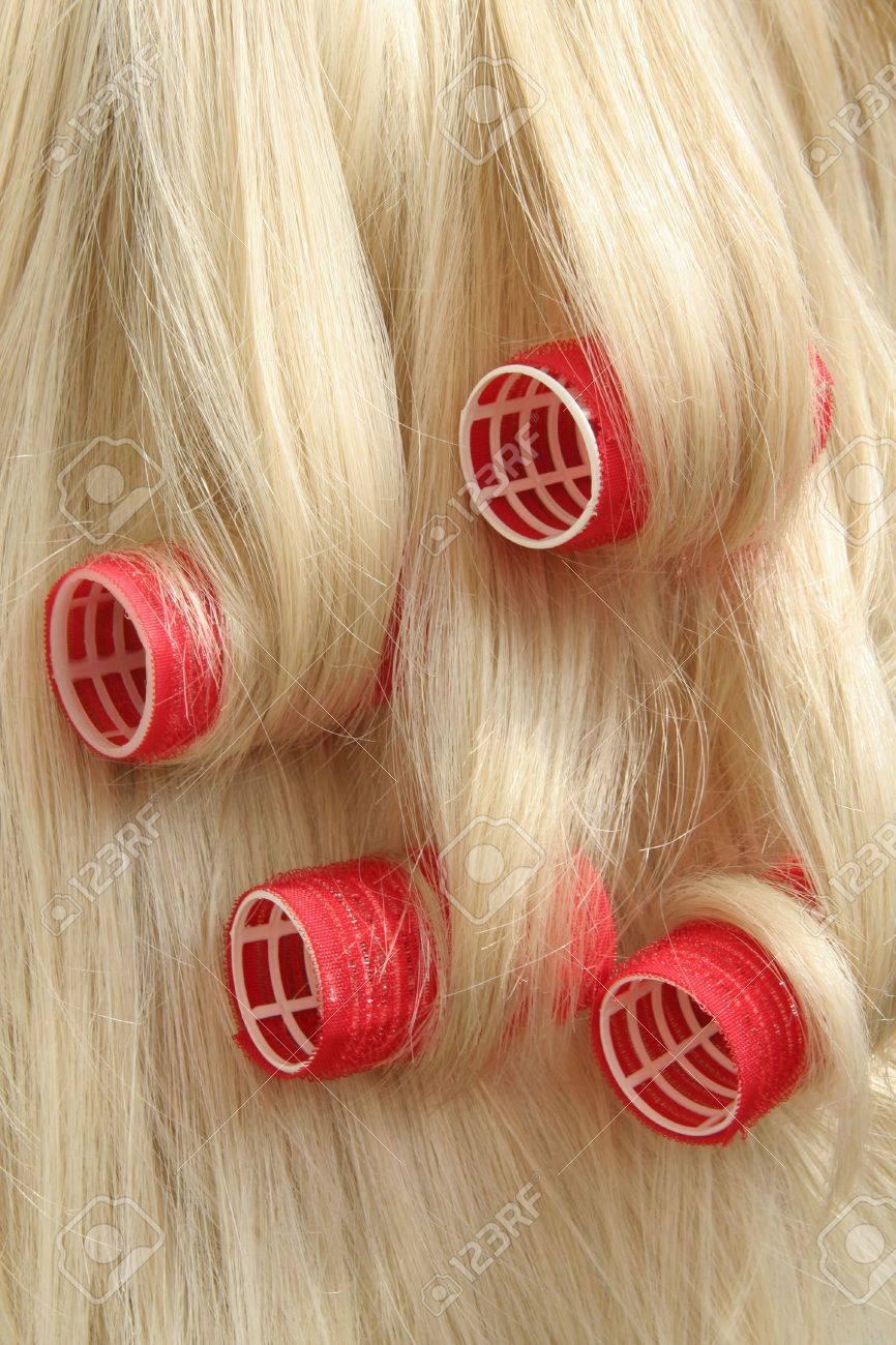 hair in hair rollers Stock Photo - 5298591