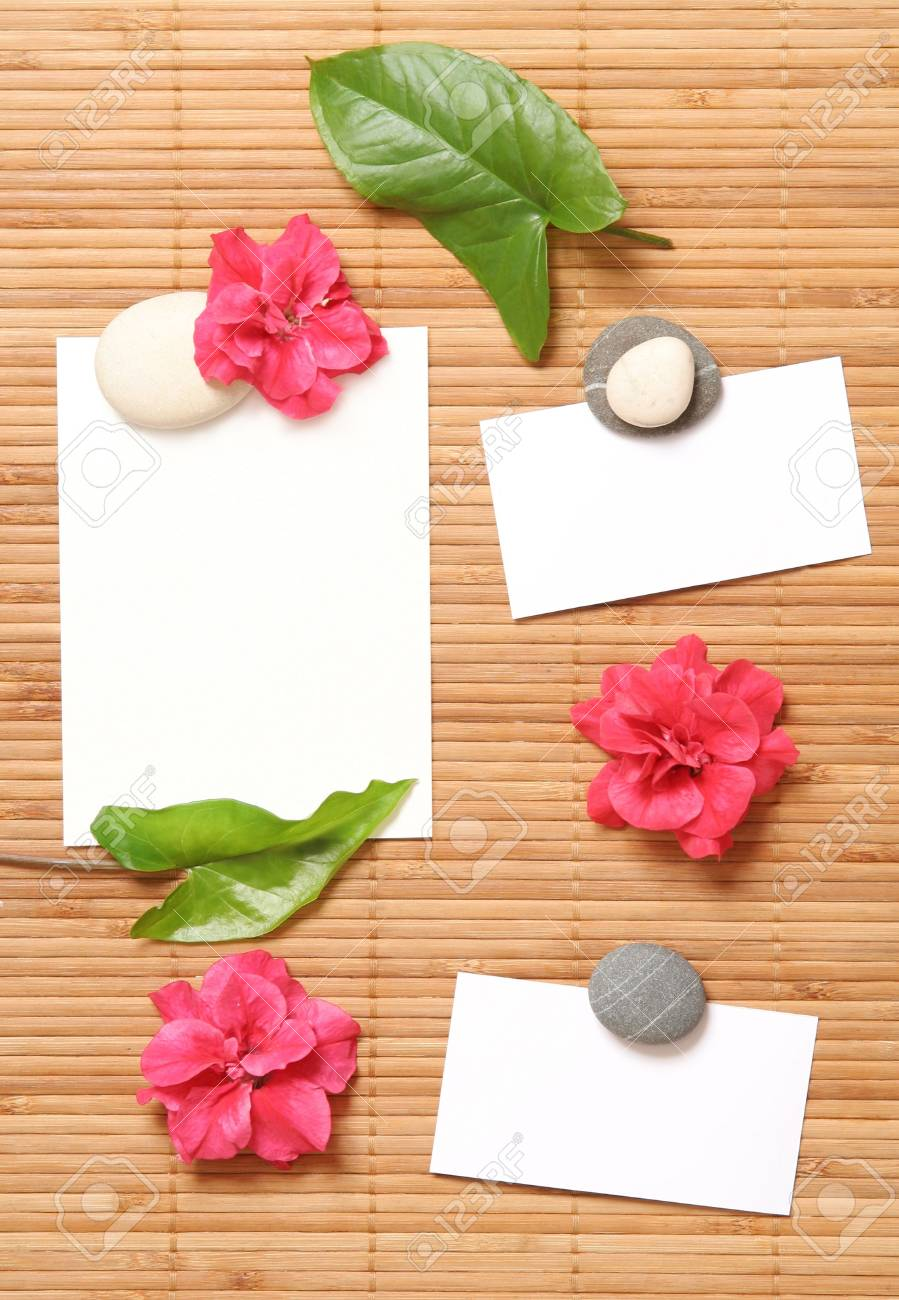 advertising Notes with some flowers Stock Photo - 5796081
