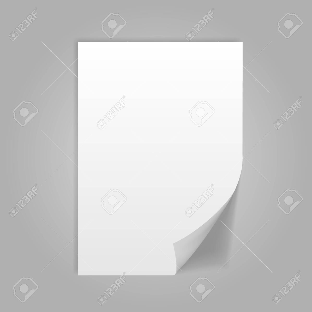 Illustration of A4 isolated on grey background. - 134540771