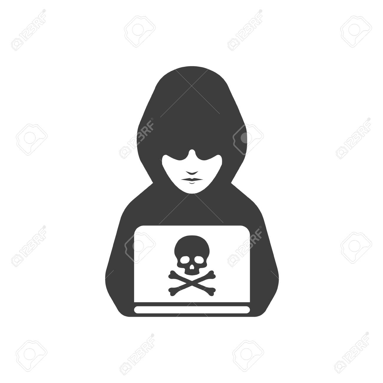 black icon of anonymous hacker vector illustration royalty free cliparts vectors and stock illustration image 135393574 black icon of anonymous hacker vector illustration