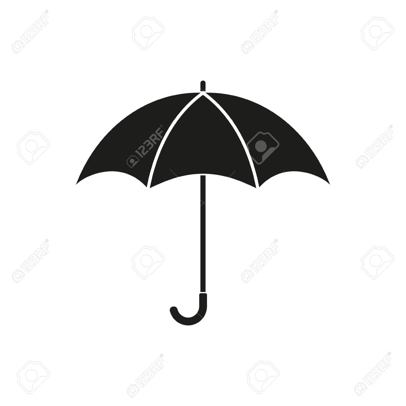 Umbrella symbol on the white background. Vector illustration. - 139890838