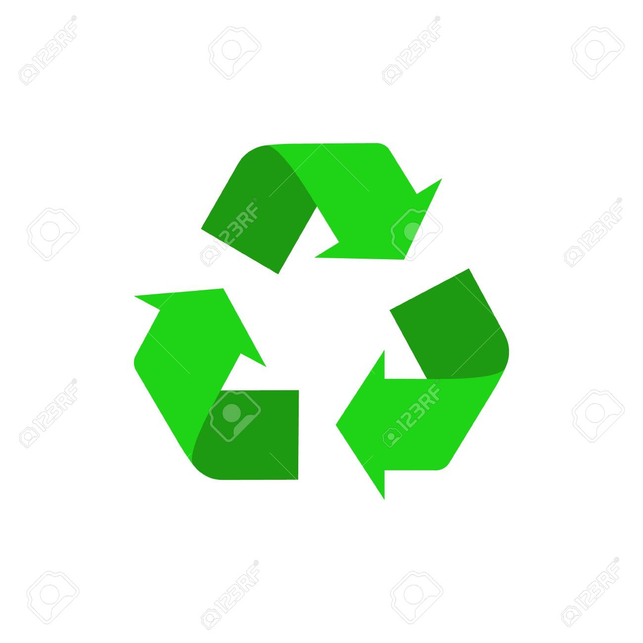Vector illstration of recycle icon. Flat design. Isolated. - 138730503