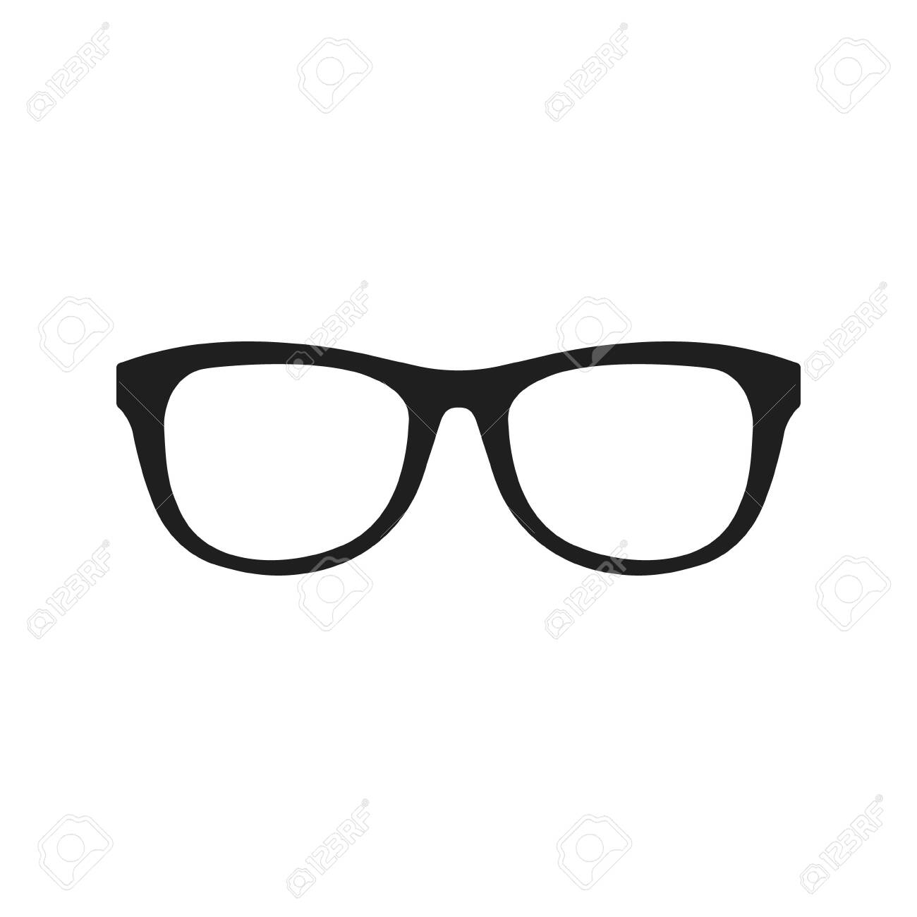 Vector illstration of glasses icon. Flat design. Isolated. - 139231615