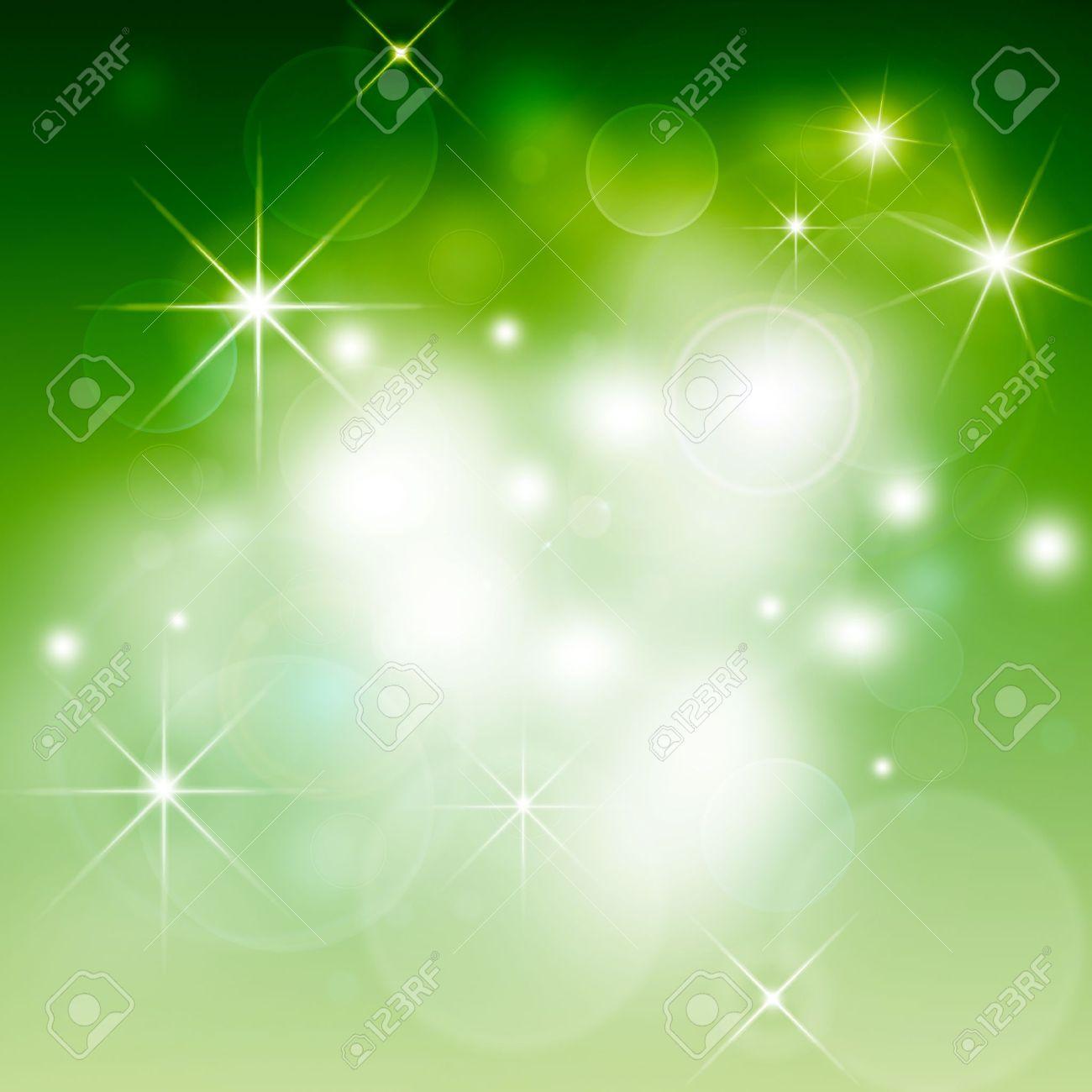 green Abstract illustration, Christmas background bokeh Stock Illustration - 16790386