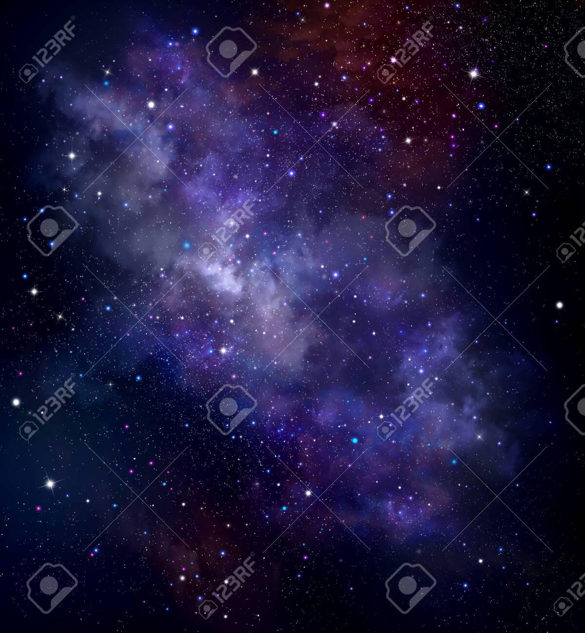 Night sky, space background with nebula and stars - 124005638