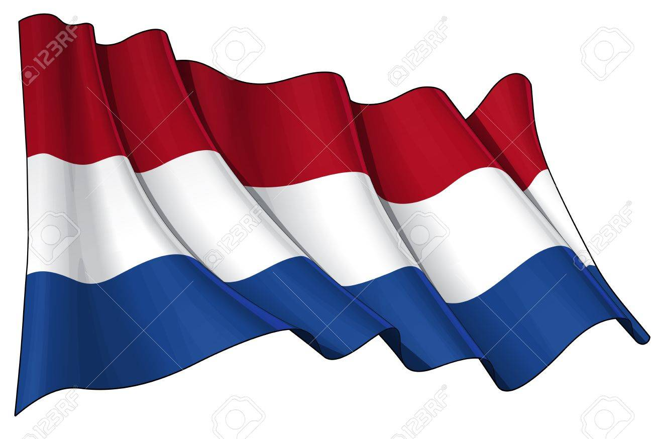 Waving  flag  EPS v 10 File and a 6800 x 4500 pxl with clipping path Preview JPG - Transparency is used on the shading layers Stock Vector - 14446074