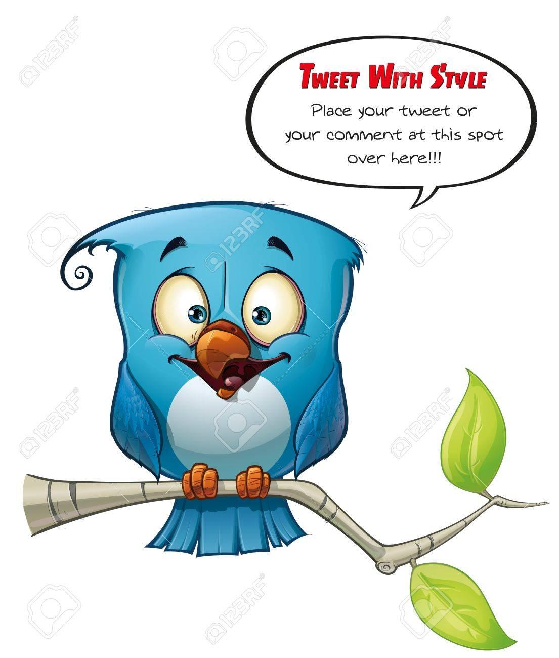 Tweeter Blue Bird Happy Stock Photo - 15803222