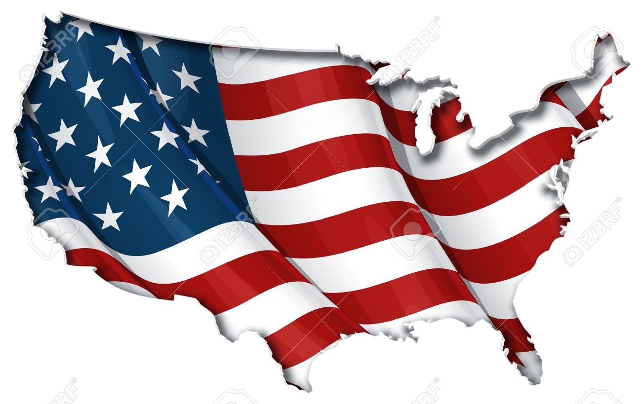 US FlagMap Inner Shadow Royalty Free Cliparts Vectors And Stock - Us flag map