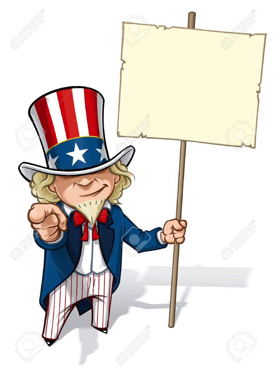 Uncle Sam  I Want You  Placard Stock Vector - 16916031