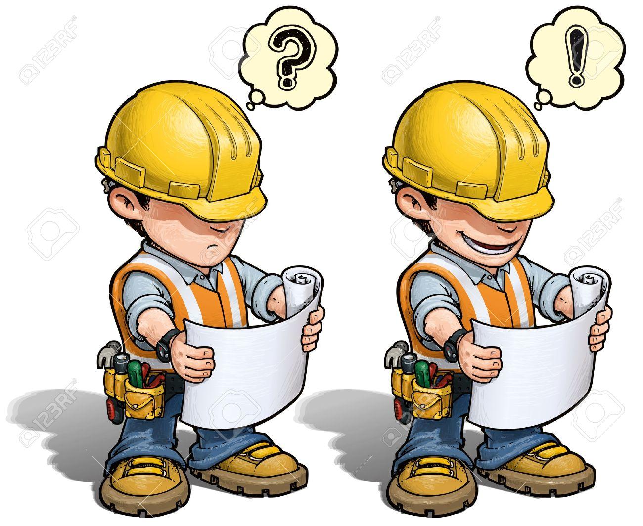 Construction Worker - Reading Plan Stock Vector - 19199946