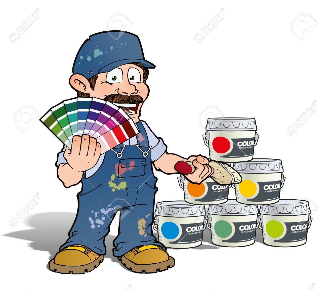 Handyman - Colour Picking Painter - blue