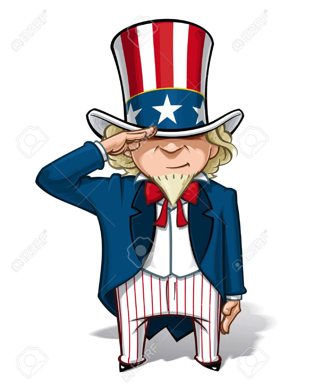 cartoon illustration of uncle sam saluting royalty free cliparts rh 123rf com uncle sam vector image oncle sam vector