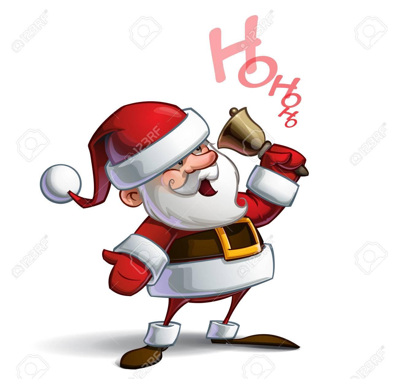 Illustration De Vecteur De Dessin Animé D Un Père Noël Souriant