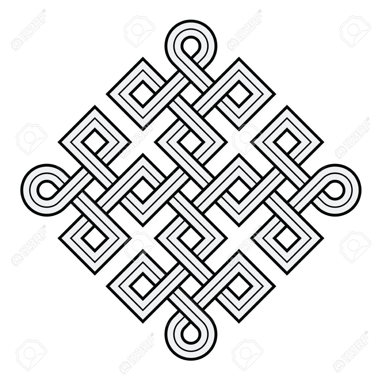 Vector Illustration Of A Viking Nordic Knot Mystic Decorative Royalty Free Cliparts Vectors And Stock Illustration Image 140609841