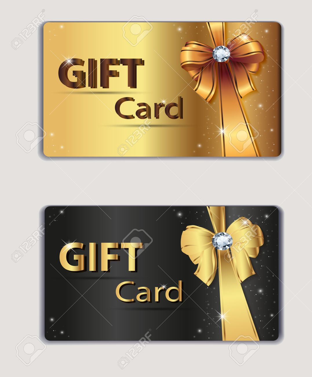 Gift Coupon, Gift Card, Discount Card, Business Card, Gold And ...