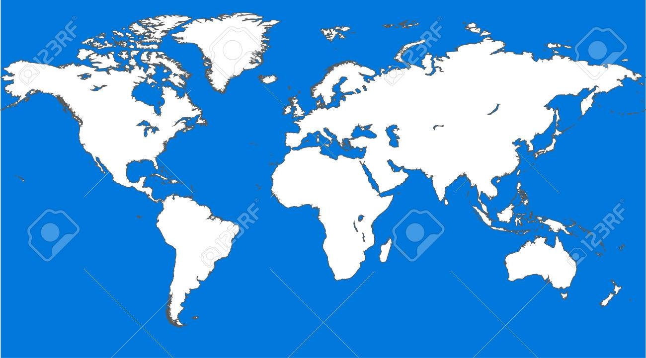 blue similar world map world map blank world map vector stock vector