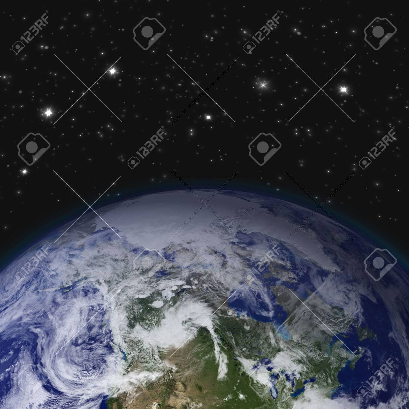 Creative abstract global communication scientific concept space creative abstract global communication scientific concept space view of earth planet globe with world map gumiabroncs Choice Image