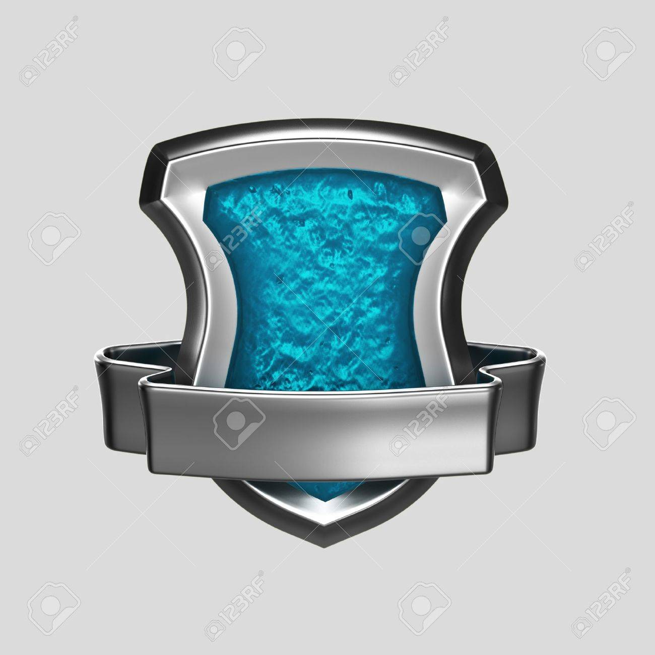 Silver and blue coat of arms Stock Photo - 11538134