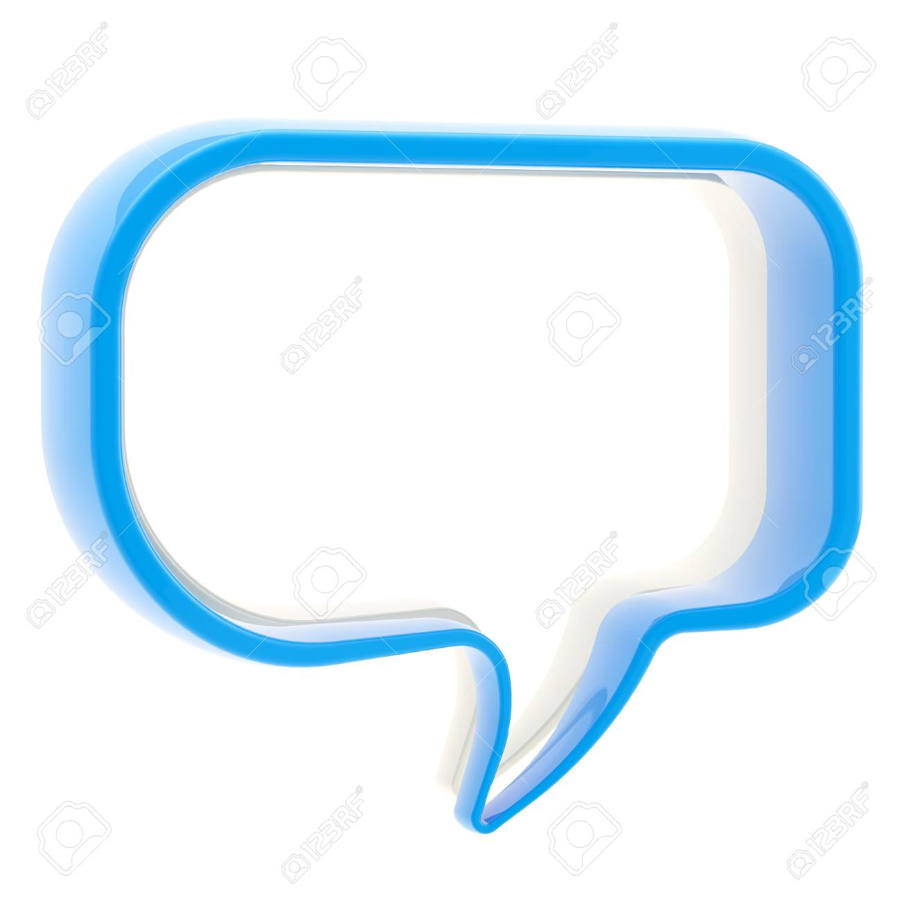 Copyspace text bubble isolated Stock Photo - 13093187