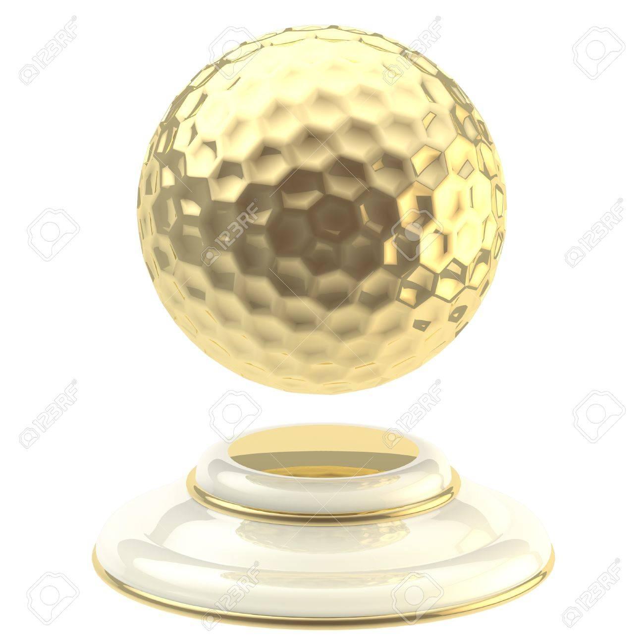 Golden golf ball champion goblet Stock Photo - 13093016