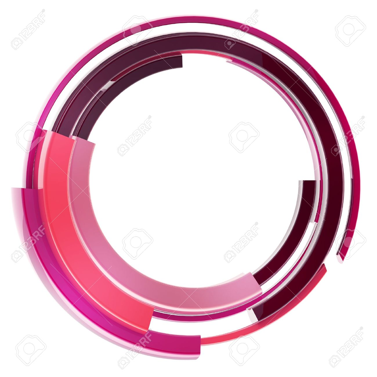 Abstract Techno Circular Frame Border Isolated Stock Photo, Picture ...