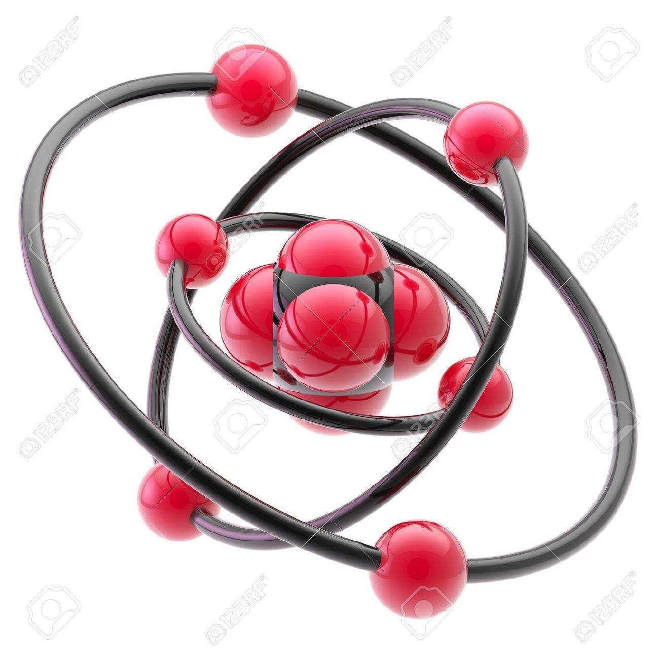 Nano technology emblem as atomic structure Stock Photo - 13145352