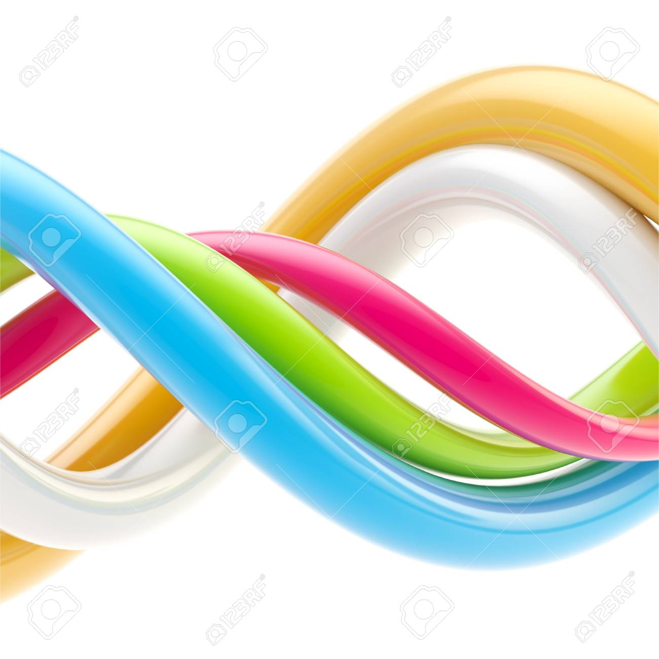 Abstract background made of twirls Stock Photo - 13145402