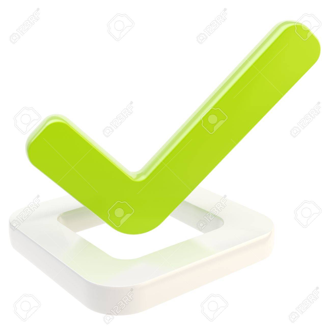 Yes done tick over check box isolated Stock Photo - 13228250