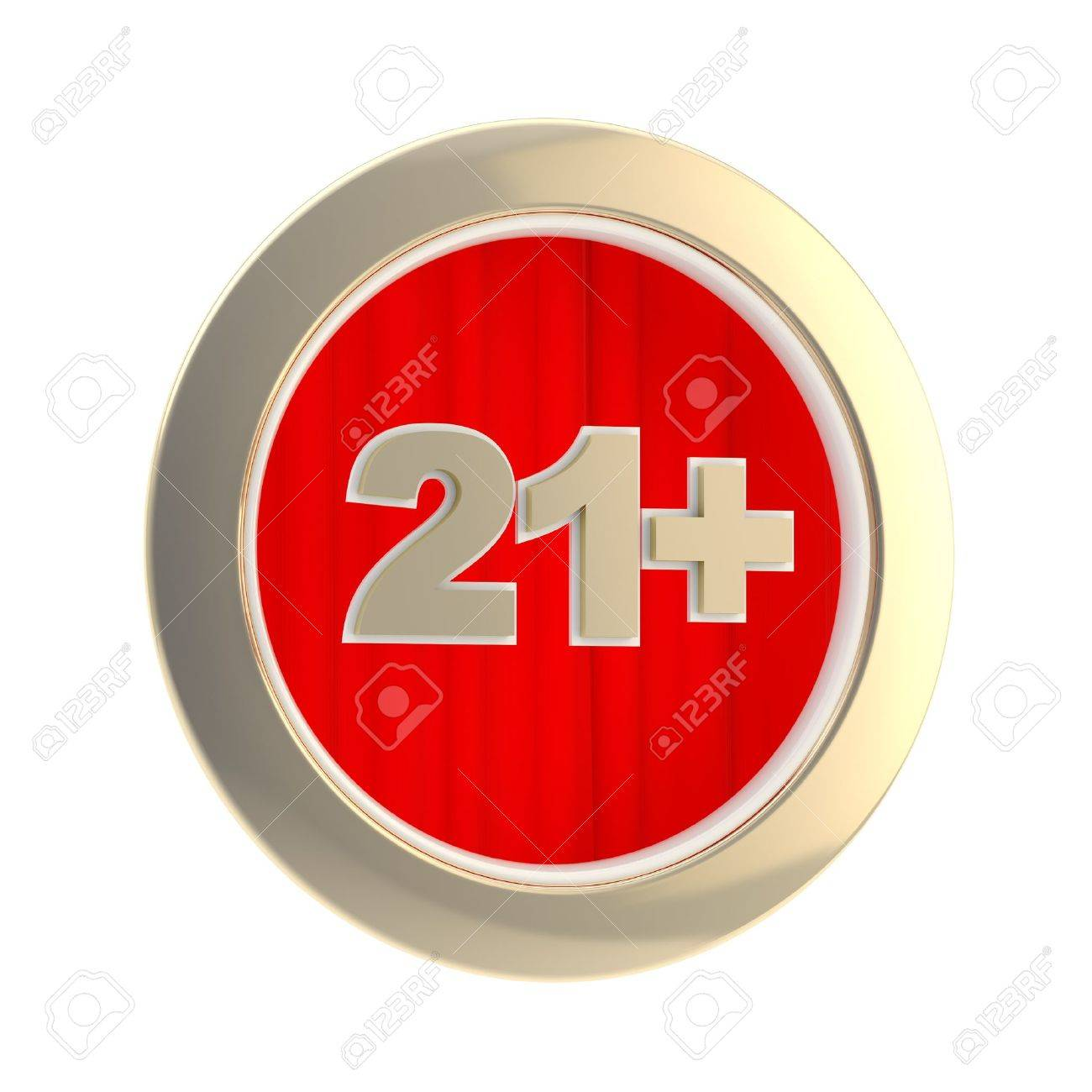 Age limit  21   round symbol isolated Stock Photo - 13228559