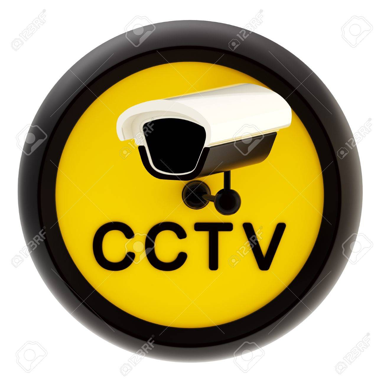 Closed circuit television alert sign Stock Photo - 13229268